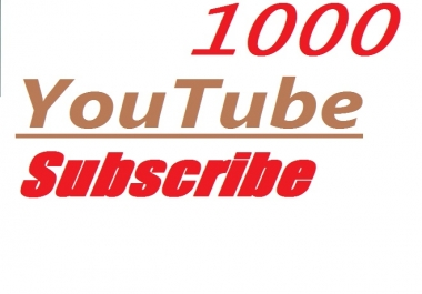 Limited offer 1000 Channel Subscribe 100 Likes bonus extra non drop high quality guarenteed 12-24  hours in complete