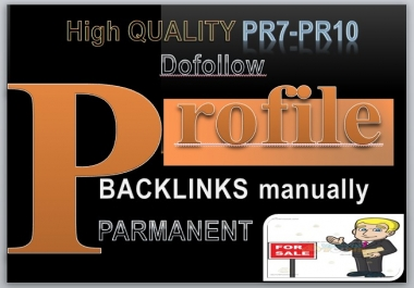 43 High Quality PR7-PR10 Profile back-links on Rank Your site