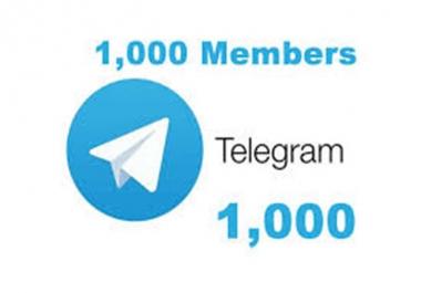 Add Real Human 1000+ Telegram Members