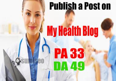 Publish a Post on healthsite.health.blog - Health Blog