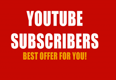 1000+ YouTube High Quality Channel Subscribers Non Drop Guaranteed