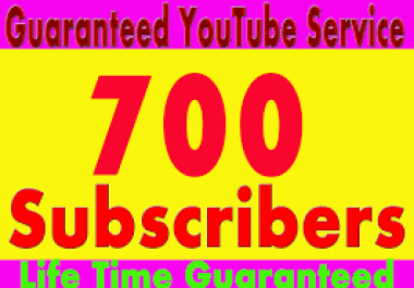 700+ YouTube Subscribers OR 300+youtube video likes Manually Given Non Drop complete very fust 24-36 hours