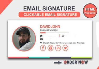 design html email signature