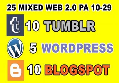 25 Mixed Expired Wordpress Blogspot Tumblr Pa 10 Plus
