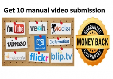 Get 10 manual video submission