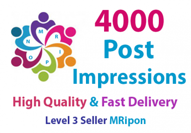 Get Instant 4000 High Quality Social Photo Post Impressions