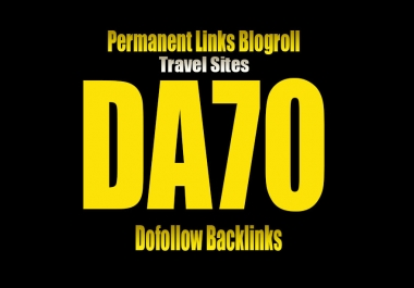 Give Your Backlink On DA70 TRAVEL blogroll or guestpost permanent