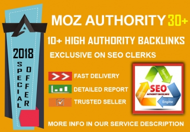 2018 Sky Rocket SEO - 10 DA 30+ Authority Backlinks with accounts