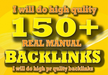 offer I Will Create 150 Manual SEO Backlinks,For You