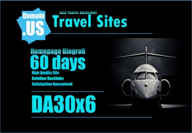 Add Your Links On Da30x6 Travel Site Blogroll For 60 Days