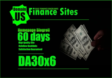 Add Your Links Da30x6 HQ Finance Site Blogroll For 60 Days
