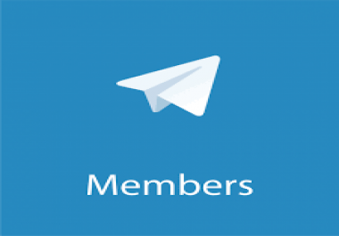 will do 250 human member for telegram channel