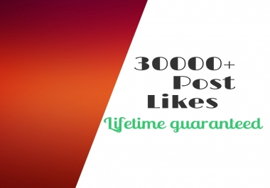 Provide 30000+ Post-Likes to your profile within 1-2 hours
