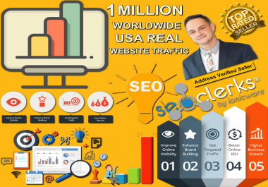 1 Million Worldwide USA Target Countries Social Media Real Website Traffic Visitors Low Bounce Rate Adsense Safe Guaranteed