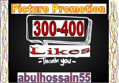 Fast & 100% Safe Working Pictureee Promotion Within 12-24 Hours offered by abulhossain55