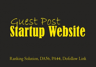 Guest Post on High Authority Startup Website