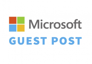 Publish Guest post on Microsoft, DA100, TF78