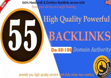 55 PR9 DA 80 To 100 High DA Authority Permanent Backlinks Boost SEO Rank