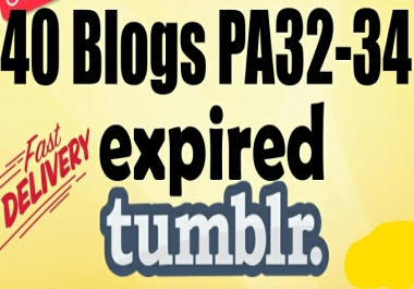 Provide 40 Expired Web 20 Tumblr Blogs PA 32 Above Ready Register
