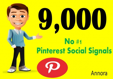 CHEAP OFFER 9,000 Real SEO Social Signals PR9 Pinterest Share No1 Social Media Bookmark
