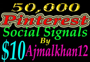 50,000+ SEO Friendly Powerful Social Signals From Top Social Media Important For SEO Ranking