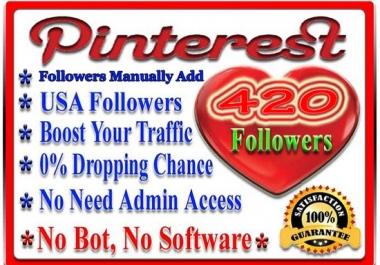Get 420 Pinterest Followers Real Human