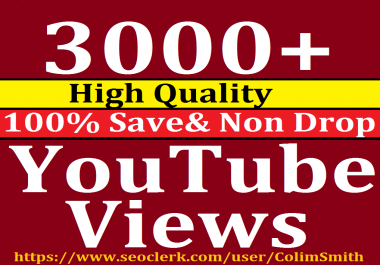Instant 2000 to 3000 Or 2K to 3K High Quality Non Refill Guarantee Views Super Fast Speed