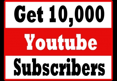 Instant 10,000+500 Bonus High Quality Utube Subsc'ribe Super Fast Speed