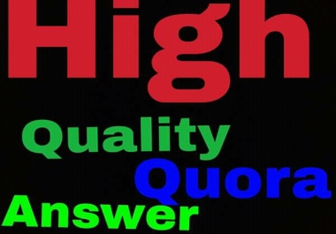 Guaranteed Quora Offer I will create 10 Quora answer for your website