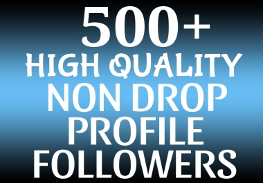Add 500+ HQ Profile Followers Permanent and Grow Your Account Ranking