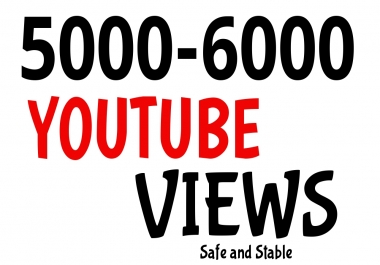 Get 5000 To 6000 Youtube Promotion High Retention