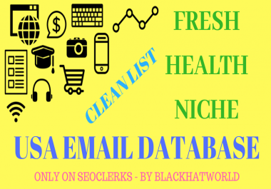 GET Fresh 250,000K Health Niche Related Emails Database of United States of America (USA)