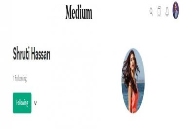 High Quality 25+Worldwide Medium UpVotes+Followers within few hours