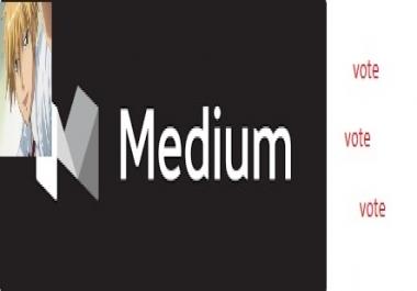 High Quality 25+ Worldwide Medium UpVotes