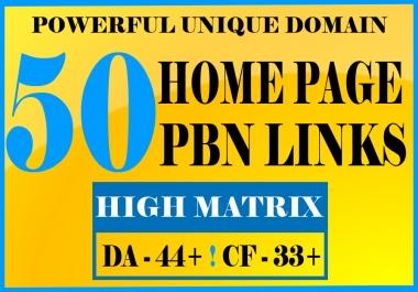 50 Powerful Dofollow Homepage PBN SEO Links DA-PA 44