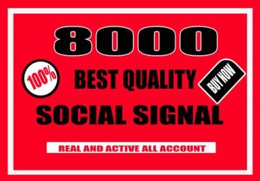 Do 8000 Quality SEO Social Signals