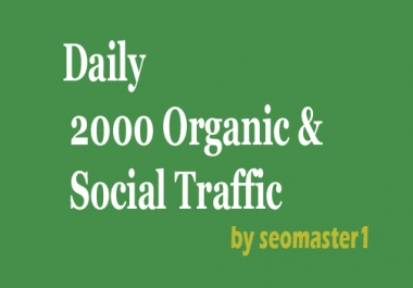 Daily 2000 Real Human and Adsense Safe Organic Traffic for 1 month