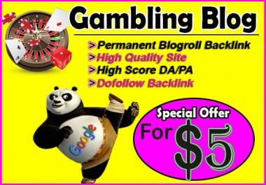 give backlink da80x7 site GAMBLING blogroll permanent