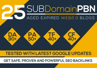 Build 25 Pbn Backlinks, High Metrics Aged Web2 Pbn Posts