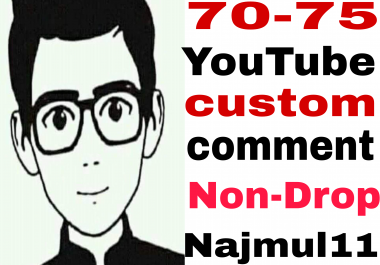 Nice offer Lifetime 70-75 Non-Drop guaranteed custom  comments very fast in 11-1 hours completed