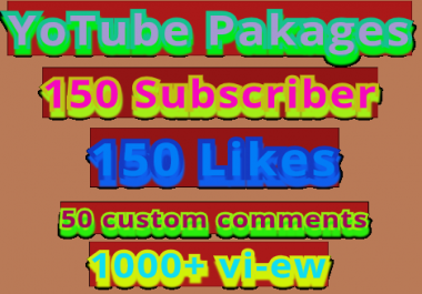 Get Promotion High Quality Non Drop Guaranteed Youtube pakages