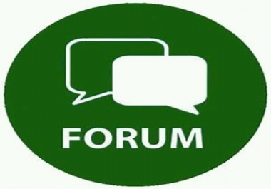 Offer I will provide  10 high Quality Forum post link