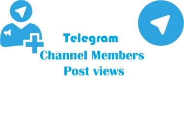 Real active & high quality 1050+ Telegram Post vie.ws or 1050+ Channel Members