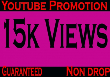 Guaranteed and safe 15k or 15000 YouTube vieews and 20 YouTube com-ments and 20 subs-cribers