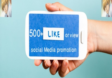 Get High Quality ORGANIC 500+Photo Post Likes or 500+ Video Views within few minutes