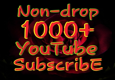 Permanent 1000 Real and Active Yt Sub very fast delivery