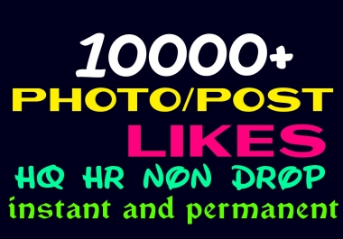give 10000+ Super Fast, High Quality, Non Drop Social Post or Photo Promotion