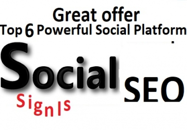 Great Top 6 Powerful Platform 3000+ PR9 SEO Social Signals Share Bookmarks Important Google Ranking Factors
