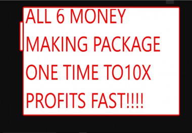 Get all my 6 money gigs to making money online