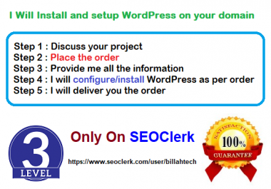 Will Install and setup WordPress on your domain
